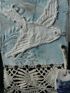 bird and blue linen