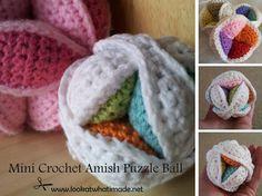Mini Crochet Amish Puzzle Ball 15 Mini Crochet Amish Puzzle Ball