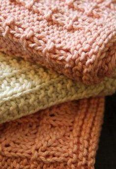 Kitchen Knitted Dishcloths 2 - set of 3 Pattern
