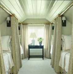 attic turned into 'sleeper train car'  bonus room