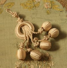Antique rare silkbobble trim tassel loop  by duchesstrading