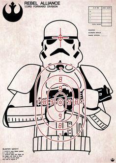 Storm Trooper rebel alliance target. Yeah, I'm a nerd.