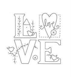 letras LOVE para bordar