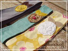 vintage rose wrap knock-off belt