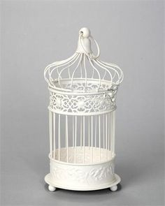 14cm Round Bird Cage - Cream
