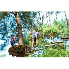 Klimrijk in the Netherlands looks like a fun outdoor action adventure! Some ideas could be down scaled (or lowered).