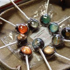 Solar system lollipops.