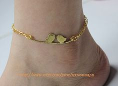 beautiful birds anklets Ankle chain golden birds by handworld, $3.99 love love love this might just buy it