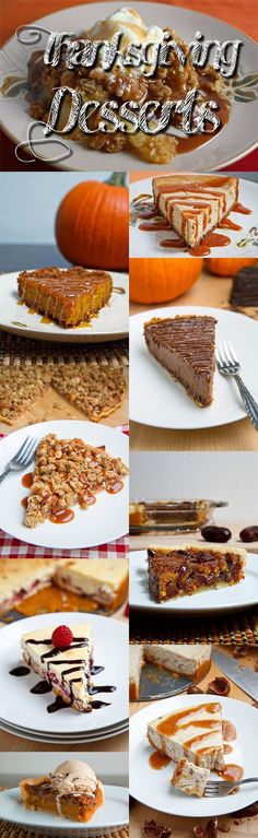 Thanksgiving Dessert Recipes | closetcooking.com