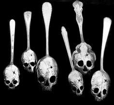 Curiosities ~ skull spoons