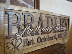 Personalized family sign. What a cute wedding gift!