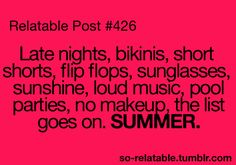 Sums up summertime