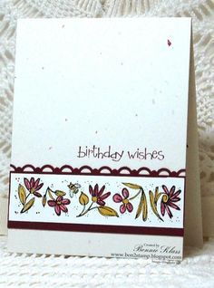 Really nice and simple card.  Perfect on the confetti white paper!