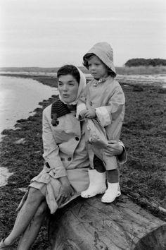Jackie Kennedy and Caroline