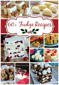 Looking for some yummy fudge recipes?  Look no further!  I've rounded up more than 60 Fabulous Fudge Recipes for all of your holiday baking needs! | MomOnTimeout.com