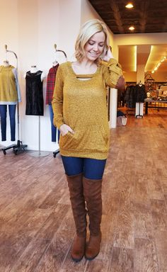Mustard cut out top