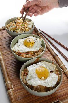 Vegetarian kimchi fried rice (kimchi bokkeumbap)   C-J Recipes