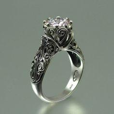 antique rings wedding, enchant princess, dream, 14k gold, gold engag, gold rings, white gold, princess jewelry, engagement rings