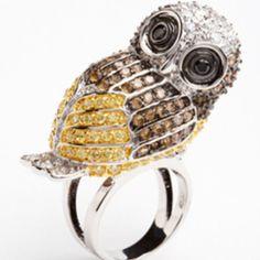 Precious Owl Ring