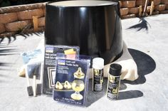 I Spy DIY- Gilded Drum Lamps  Haute Khuuture