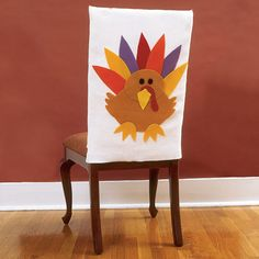 Thanksgiving Crafts: Turkey Chair Covers | Spoonful