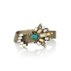 Crystal Fan Adjustable Mesh Bracelet