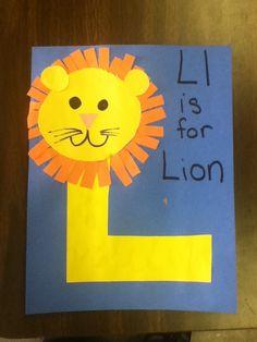 Letter L- Easy lion craft for kids. #preschool #kidscrafts #alphabet