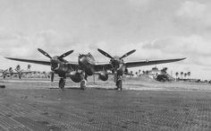 Lockheed P-38 Lightning(s)  August 25, 1945 - Lockheed P-38 Lightning of the 475th Fighter group, equipped with two auxiliary fuel tanks. On tank holds 310 gallons and the other 165 gallons. Lingayen Airstrip, Luzon, Philippines