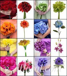 Rainbow-Wedding-Flowers    #wedding