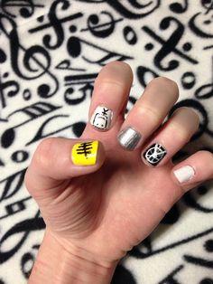 Nails♥ on Pinterest   Halloween Nails, Batman Nails and Superman ...