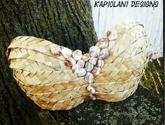 Tahitian Bra Top - Tahitian Dance Costume - Tahitian Pre-made Bra Design - Polynesian Top