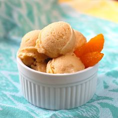 Orange Creamsicle Frozen Yogurt:  [high-protein, great post-workout snack!]
