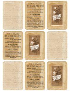"""Torn Paper Tags ~ Neutrals"" ~ free vintage printable"