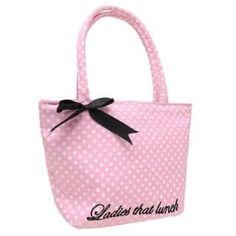 White Spots Golddigga Lunch Bag  #white #pink #spots #lunch #bag