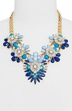 Blue Statement Necklace - $48