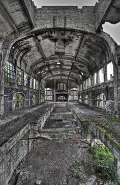industrial heritage, industrial buildings/ former mine – was even converted into a zoo, but that idea was evidently abandoned too, Charleroi, France