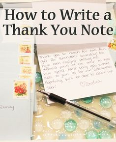 How to Write a Thank You Note - Always Expect Moore