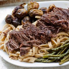 Grandma's Roast Beef and Homemade Noodles