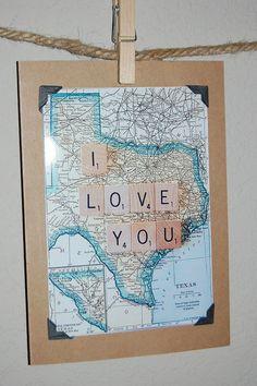 Vintage style vintage Texas map blank card by TumbleweedsandThyme, $4.95