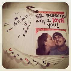 "my version of ""52 reasons why I love you"" <3"