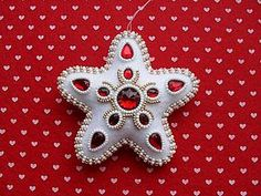 "Sew Christmas toy: asterisk with ""almazik"" of felt"