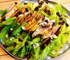 Grilled Chicken Pear Gorgonzola Candied Pecan Salad with Pear Gorgonzola Dressing