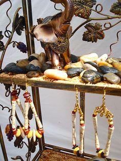 bead earrings, color girl, fimo forev, yabadabadopap beadsi, brooklyn ny