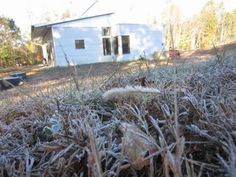 Off Grid Modern Prefab Home Has The Season's First Frost As Fall Continues With Net Zero Comfort.