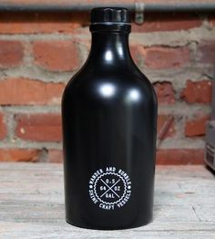 Matte Black Steel Growler by Shine Craft Vessel Co. on Scoutmob Shoppe