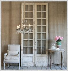 Refinish them, hang them on the wall, sit them in the corner-- no matter what, antique doors are gorgeous.