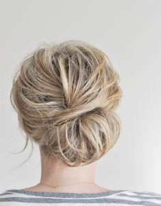 Love this look of this textured chignon.