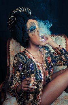 quazimottoonwax:    ::Smoke Joint:: by J. Quazi King  Model: Fola  Make Up: Risha Rox  Fashion: Joanne Pief  http://quazimottoonwax.tumblr.com/
