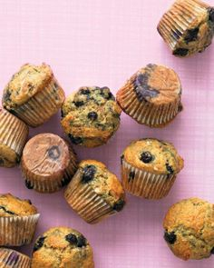 Muffin Recipes // Healthy Banana-Blueberry Muffins Recipe