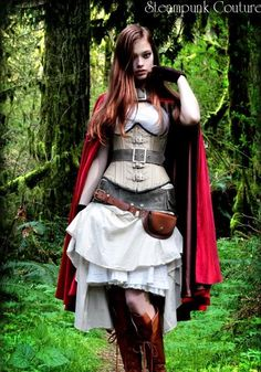 little red, red riding hood, halloween costumes, costume ideas, hoods, red ride, corset, ride hood, steampunk